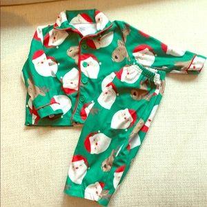 12 month Santa pajamas